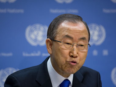 UN Secretary General Ban Ki-moon called for an immediate release of the abducted Israeli soldier. AP
