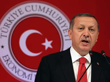 File image of Turkish president Reccep Tayyip Erdogan. AP