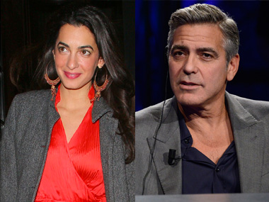 Amal and George Clooney. Image from AP