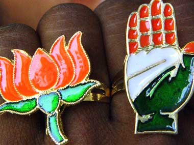 BJP and Congress. Representational image. Reuters