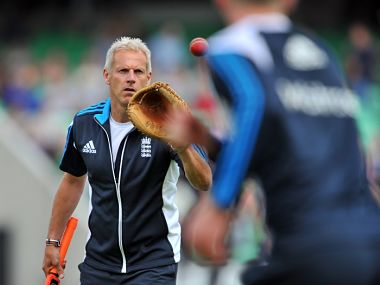 File picture of England coach Peter Moores. AFP