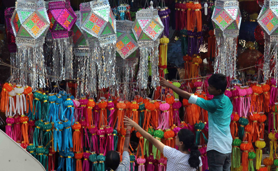 Photos From lanterns to firecrackers here is how Mumbai gears up for Diwali
