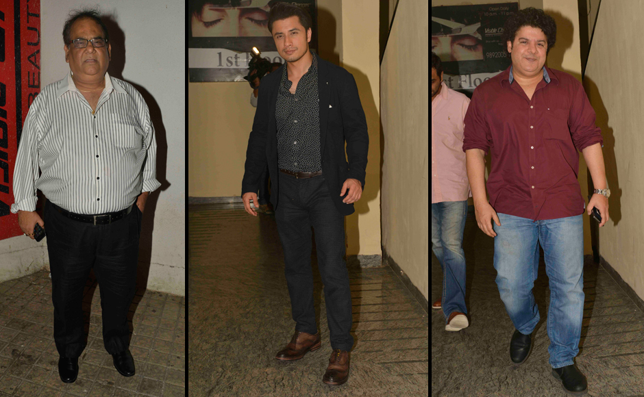 Spotted Akshay Kumar Tigmanshu Dhulia at The Shaukeens screening