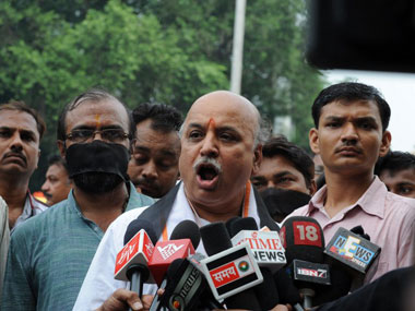 Will raise Indias Hindu population to 100 from 82 Togadia
