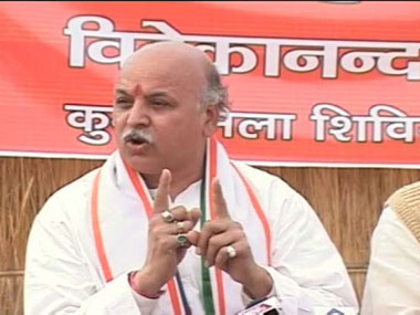 If you want independent Kashmir, go to Pakistan, says Praveen Togadia: VHP leader no stranger to controversy