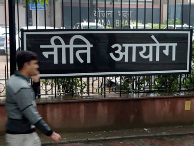 The newly renamed NITI Aayog building. PTI Image
