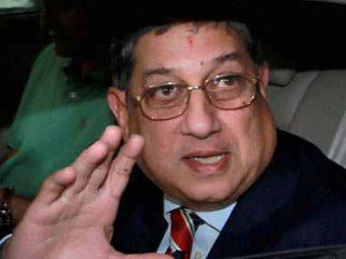 N Srinivasan set to discuss next move with Jaitley after ICC meeting