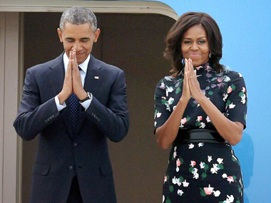 President Obama and First Lady Michelle leave for Riyadh on Tuesday. PTI