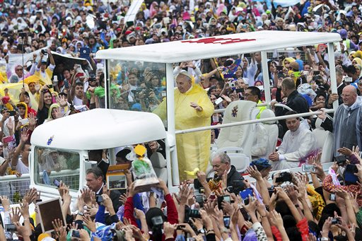 We love you Pope Francis draws a record crowd of 6 million in Manila