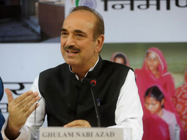 Congress leader Ghulam Nabi Azad. AFP