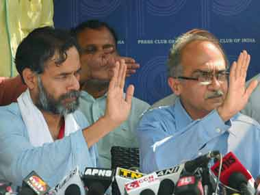 Booted out of politics: Bhushan-Yadav AAP ouster spells exile for intellectuals