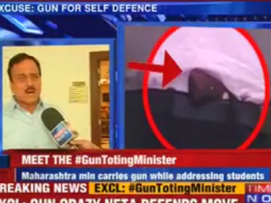CM Fadnavis defends Girish Mahajan for carrying revolver at event for kids