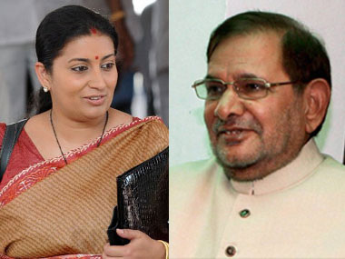 From Smriti Irani to Kanimozhi Sharad Yadavs compliments are as sexist as his jibes