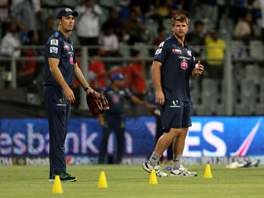 File picture of Shane Bond (L) and Corey Anderson (R). BCCI
