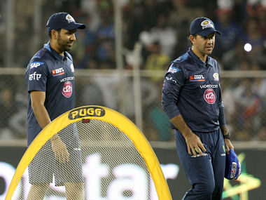File picture of Ricky Ponting (R) and Rohit Sharma (L). BCCI