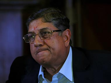 N Srinivasan's grip on the ICC might be slipping. AFP