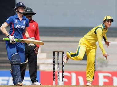 Sthalekar (Australia) in action during the Women's World Cup in 2013. Getty