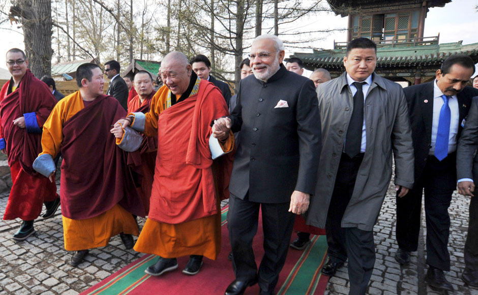 PM Modi visits Gandan monastery in Mongolia, gifts Bodhi sapling as 'token of friendship'