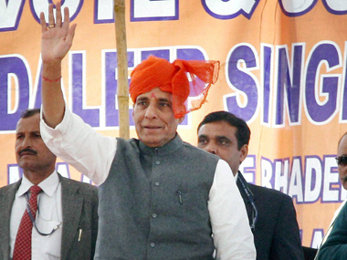 Home Minister Rajnath Singh is one of the few main Thakur leaders significantly involved in UP politics. PTI