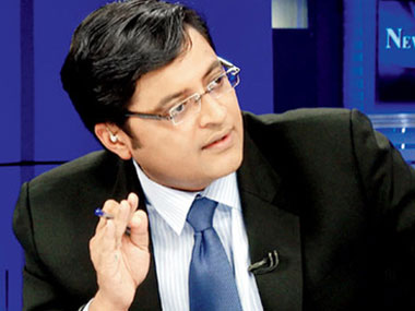 Arnab Goswami. CNN-News18