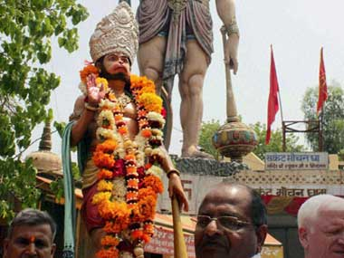 You have illegally encroached the road Lord Hanuman gets eviction notice in Madhya Pradesh