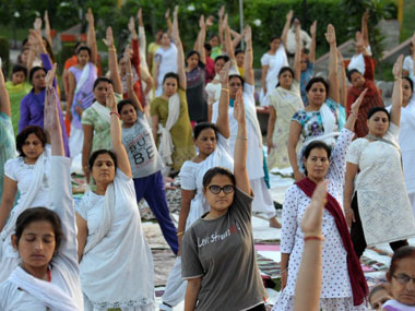 Dear Hindutva hot heads dont thump your chest over yoga it has nothing to do with religion