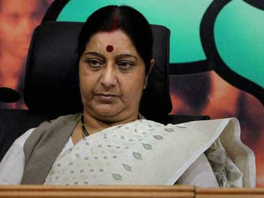 Humanitarian help for Lalit Modi BJP government rallies around Sushma Swaraj in first ethics scandal
