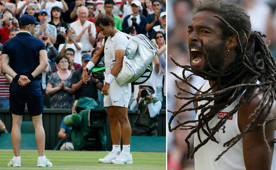 Photos: Tatoo shines, Brown roars as Nadal crashes out of Wimbledon