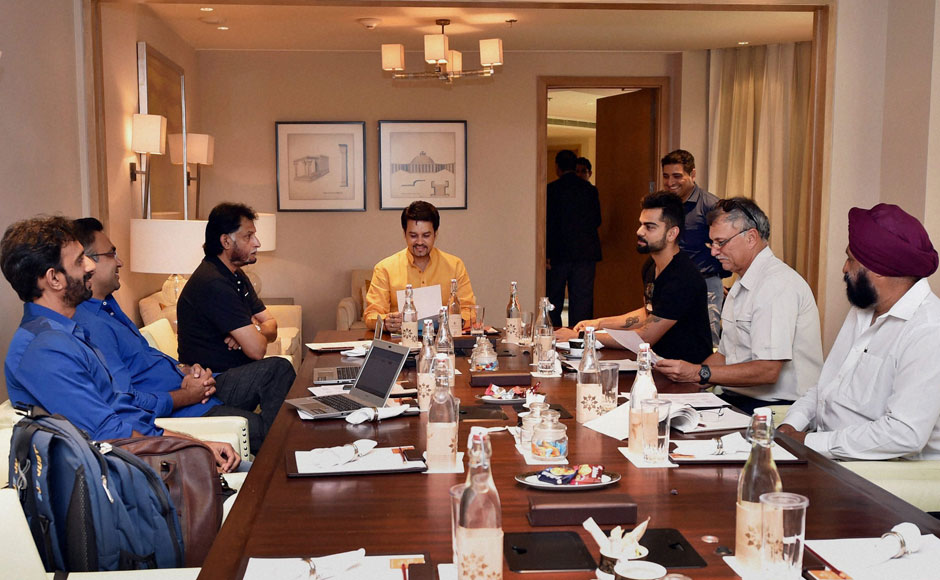 Photos: Selectors get together to select India's squad for Sri Lanka