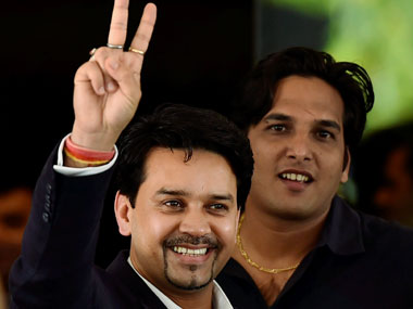 File picture of Anurag Thakur. PTI