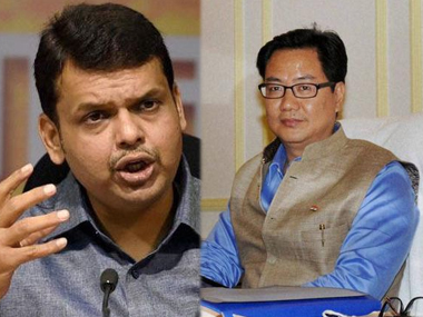 Fadnavis then Kiren Rijiju Sorry mantriji you are the technical delay in Air India flights