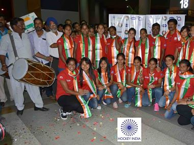 On the verge of Olympic qualification Indian womens hockey team arrive to grand welcome