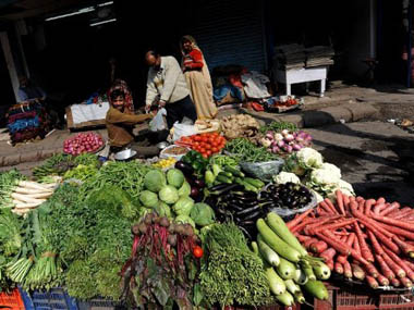 WPI inflation at 8month low of 380 in December on softening fuel food prices vegetables witness deflation at 1755