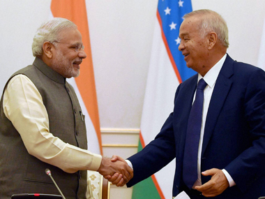 Modi holds talks with Uzbek Prez; Afghanistan, terror discussed, 3 pacts inked