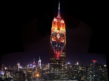 Goddess Kali showcased on the Empire State building in NYC and heres why