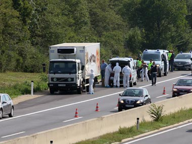 At least 50 decomposing bodies of migrants found in abandoned truck in Austria