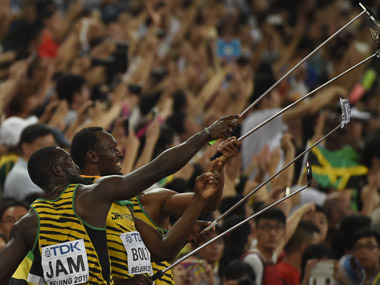 Third gold medal for Bolt as bungling USA get disqualified in 4x100m relay