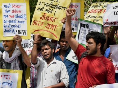 File photo of the FTII protest. PTI