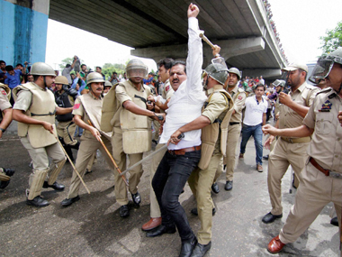 Amid strike, police fires teargas and cane-charges pro-AIIMS protesters in Jammu