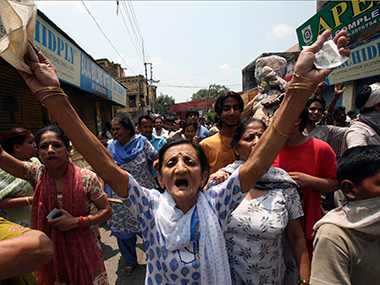 File photo of a protest of Kashmiri Pandits. Image courtesy: Reuters