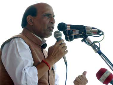 Rajnath Singh meets cop, jawan injured in gunbattle with terrorists