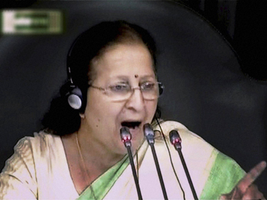 Speaker Sumitra Mahajan warns of strict action as Opposition protests continue in Lok