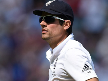 File photo of England Test captain Alastair Cook. AFP