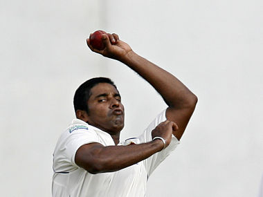 File picture of Chaminda Vaas. Reuters