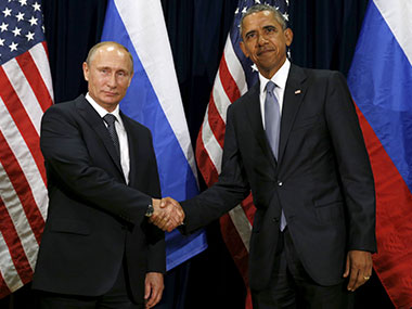 US President Barack Obama and Putin. Reuters