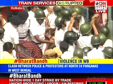 Sporadic violence witnessed in parts of West Bengal during trade union strike