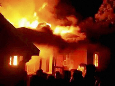 Manipur violence: Zonal education office set on fire in Churachandpur