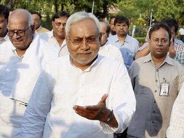Bihar Polls: Nitish laughs at BJP's promise of providing two-wheelers to school girls