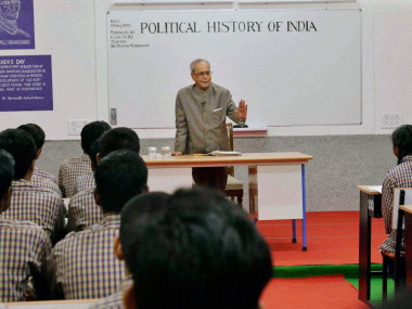 In a first, President 'Mukherjee Sir' takes Political History class at Raisina Hill on