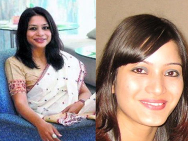 Indrani Mukerjea (left) and Sheena Bora.